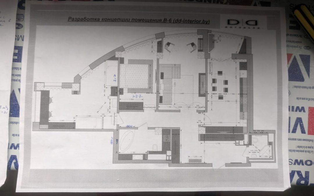 Дизайн проект и ремонт квартир под ключ
